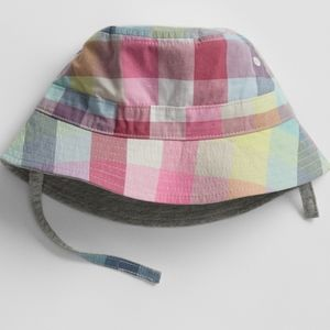 NWT Baby GAP Plaid Bucket Hat